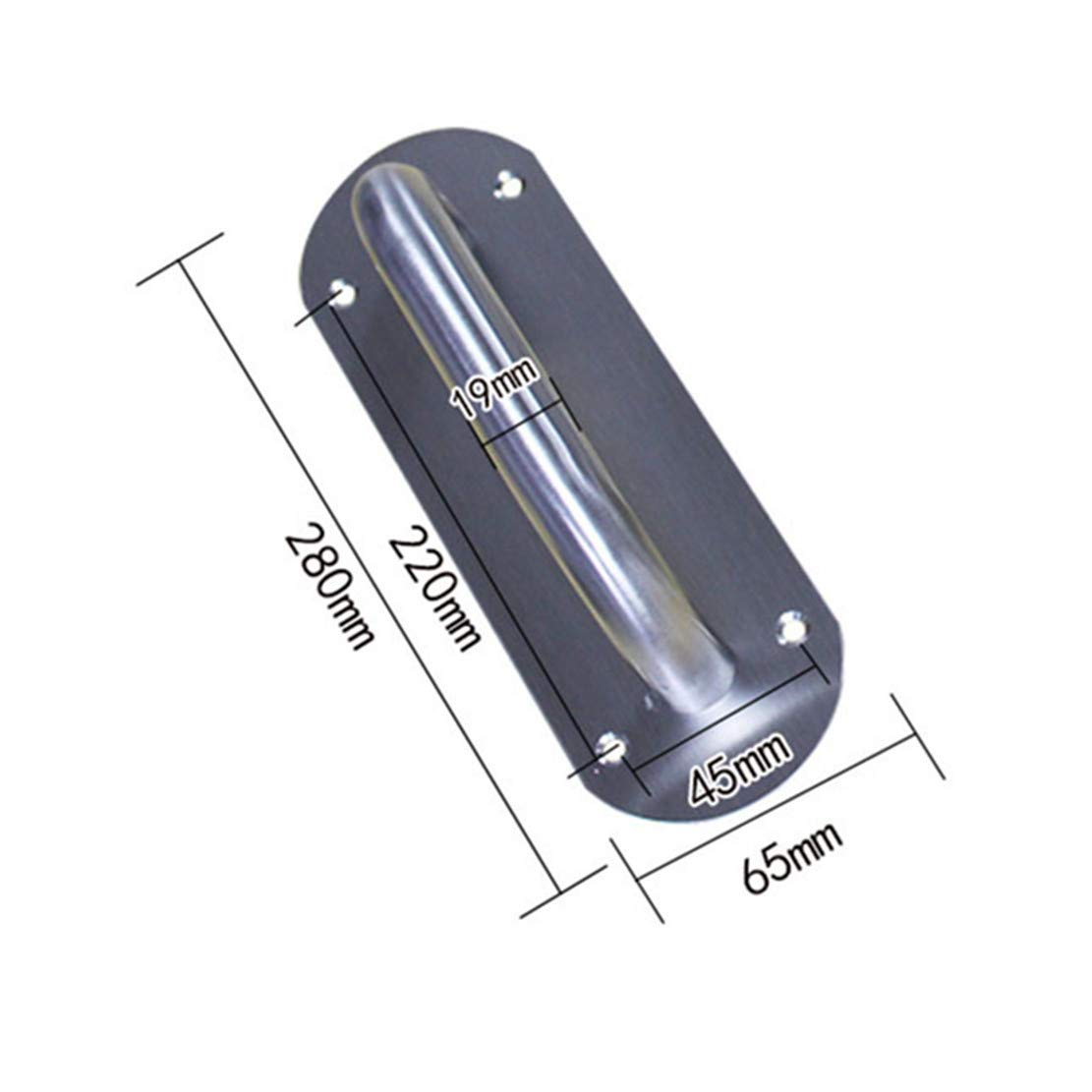Square grand style rustique meubles abris 1 pi/èce 200 * 65mm Ensemble de poign/ées de porte de grange en acier inoxydable robuste pour portail garage