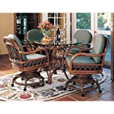 South Sea Rattan WK400 Antigua 5 Piece Dining Set with Swivel-Tilt Chairs