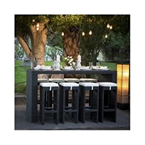 Wicker Bar Height Patio Dining Set Seats 8 Patio Lawn Ga