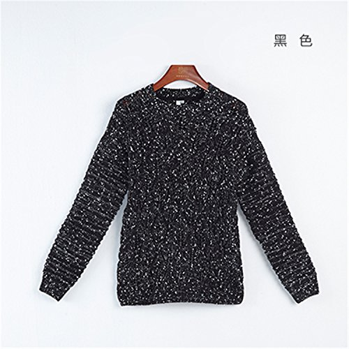 Sicong2 Sweet Women Sweater O-neck Long Sleeve Hollow Out Loose Knitted Pullover Fashion Female Top BlackXL Grace (Ikea Dressers For Cheap)