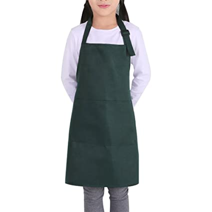Kids Painting Apron Set w/ Hat Pocket Kitchen Chef Cooking Art Custom Opromo Aprons Home & Garden