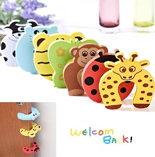 ULAKY 10pcs Animal Door Corner Stopper for Baby Safety Toddler Finger Protectors