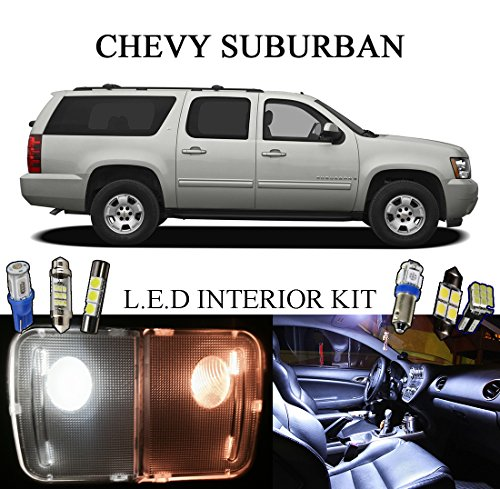2007 Chevy Suburban Xenon White LED Interior package + License Plate (13 pieces)