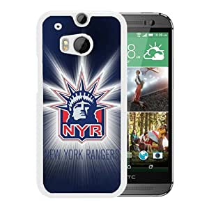 Fashionable And Unique Designed Cover Case With New York Rangers White For HTC ONE M8 Phone Case