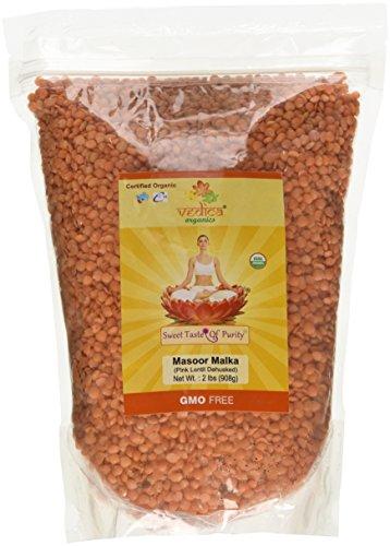 Organic Masoor Dal Mogar/Masoor Malka (Pink Lentil Dehusked) (2 Lbs) by Vedica Organics LLC (Image #1)