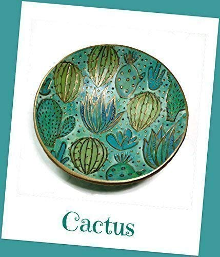Cactus Ring Dish- Handpainted Jewelry Holder- Polymer Clay Dish- Gifts for Her Birthday Engagement Housewarming ()
