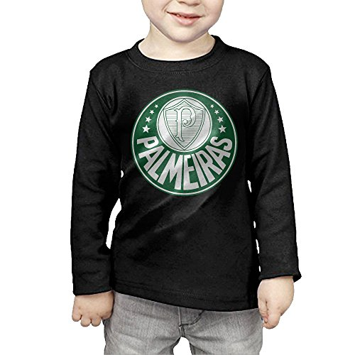fan products of Toddler's Sociedade Esportiva Palmeiras Logo Long Sleeve Tee 2 Toddler Black