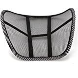 Almohada de lumbar - SODIAL(R)Almohada de lumbar de apoyo trasero de la cintura para sillas de cojin de asiento Almohada Corrector de Postura Negro