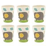 Bamboozle Tiny Footprints Set of 6 Elly Elephant Cups, 24 Piece