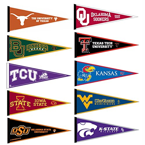 Big 12 Conference College Pennant Set