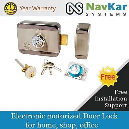 Navkar Stainless Steel Electronic Lock for Wooden & Metal Doors