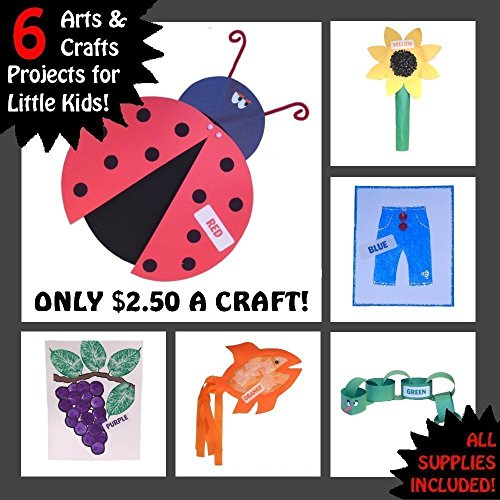 6 Simple Arts and Crafts - Learn Colors - Best Kits for Children Preschoolers - Includes All Supplies from Higher Ground Toys