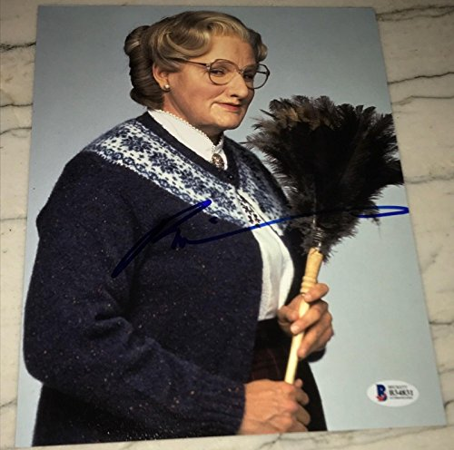 (ROBIN WILLIAMS SIGNED AUTOGRAPH CLASSIC MRS. DOUBTFIRE 8x10 PHOTO BAS BECKETT - Beckett Authentication)