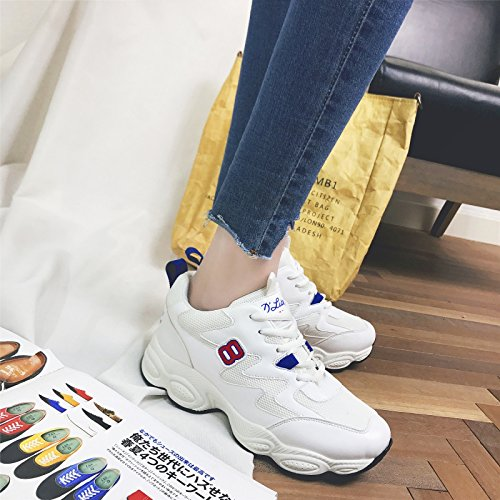 GUNAINDMXShoes/Shoes/Shoes/Shoes/All-Match/Spring/Autumn And Winter White blue