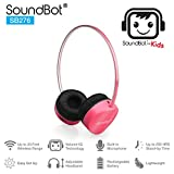 SoundBot for Kids SB276 Volume-IQ Technology 85dB Safe for Kids Bluetooth V4.1 Headphone Wireless Headset for Music Streaming & Hands Free Calling for 12Hrs Talk Time, 250Hrs Standby Time