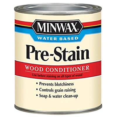 Minwax 61850/61851 Water-Based Pre- Stain Wood Conditioner Tintable with White Tint Base, 1 quart