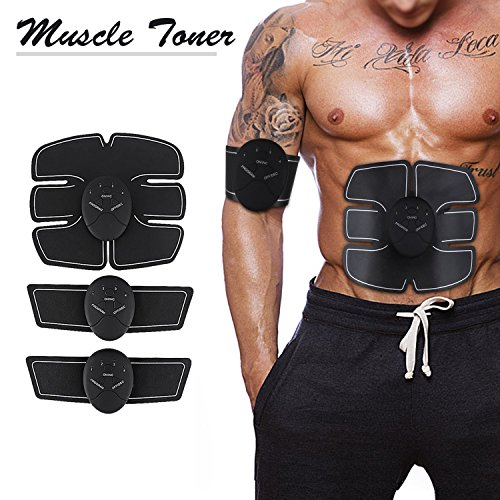 Muscle Toner,Muscle Trainer,Abdominal Toning Belt,Unisex Wireless Portable EMS ABS Trainer,Fitness Training Gear for Abdomen/Arm/Leg Training,Body Gym Workout Home Office Exercise Equipment For Sale