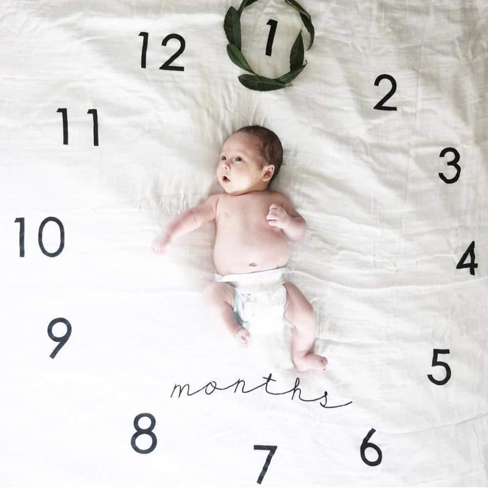 Clock Newborn Baby Blanket Organic Muslin Swaddle Blanket Cotton Wrap Comfort and Safe Baby Wrap