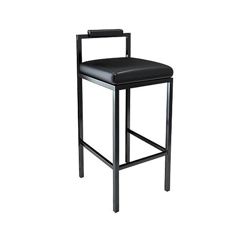 Amazon.com: Taburete de bar de hierro forjado negro, cómodo ...
