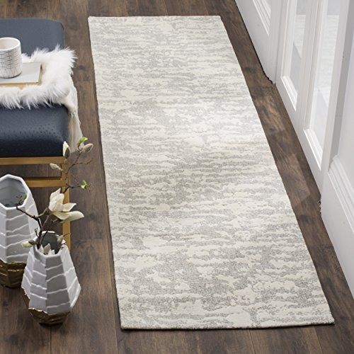 (Safavieh Marbella Collection MRB631A Flat Weave Light Grey and Ivory Runner, 2'3