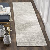 Safavieh Marbella Collection MRB631A Flat Weave Light Grey and Ivory Runner, 23 x 8