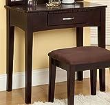 Furniture of America CM-DK6490EXP Potterville Espresso Vanity Table