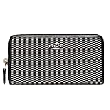 Coach Accordion Zip Wallet Legacy Jacquard, Grey/Black
