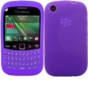 Keypad Button Silicona Cubrir Caso Piel Y Pantalla LCD De Guardia Para Blackberry Curve 9220 9320 / Purple