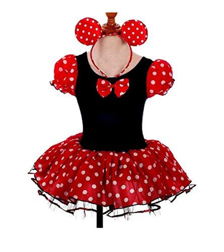 [Girls Costume With Headband Girl Baby Halloween Tutu Dressing Up (4-5 Years, Red)] (Baby Halloween Tutus)