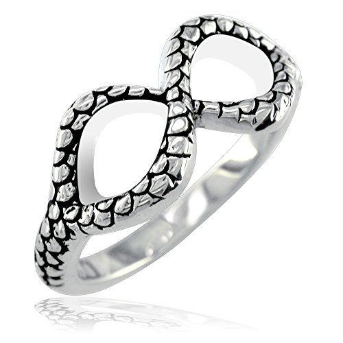 Sterling Double Heart Infinity Ring in Sterling Silver size 7.5 by Sziro Infinity Rings