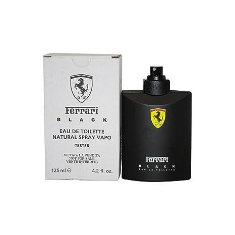 Amazon Com Ferrari Black Cologne By Scuderia Ferrari 4 2 Oz Eau De Toilette Spray For Men Tester Beauty