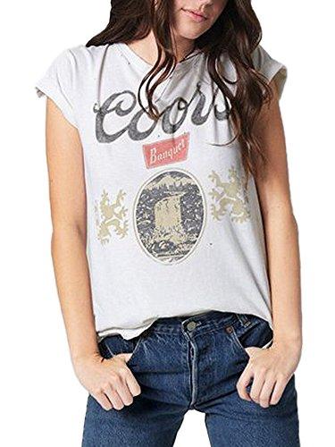 Junk Food Coors S/S Logo Tee (Ivory, - S/s Tee Logo Womens