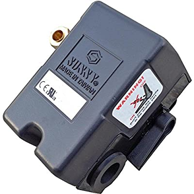 New Heavy Duty Pressure Switch for Air Compressor 25 amp 140-175 Four Port Connection w/ unloader & on/off lever