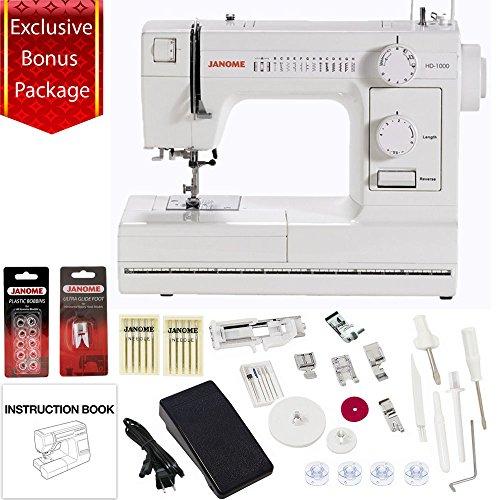 Janome HD1000 Mechanical Sewing Machine w/ FREE BONUS Package! by Janome