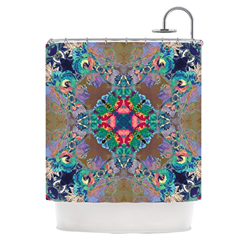 "Kess InHouse Danii Pollehn ""Flowery"" Floral Kaleidoscope Shower Curtain, 69 by 70-Inch from Kess InHouse"