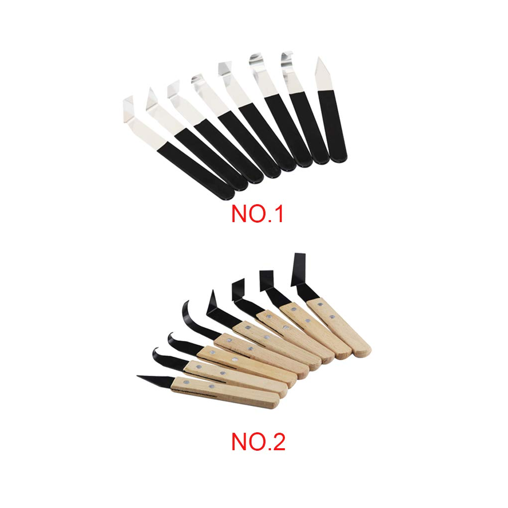para cer/ámica y cer/ámica 6 Piezas de Herramientas de esculpido de Arcilla para tallar Cera de Doble Extremo Kit de Modelado de Modelado de cer/ámica Zwindy Herramientas de Recorte