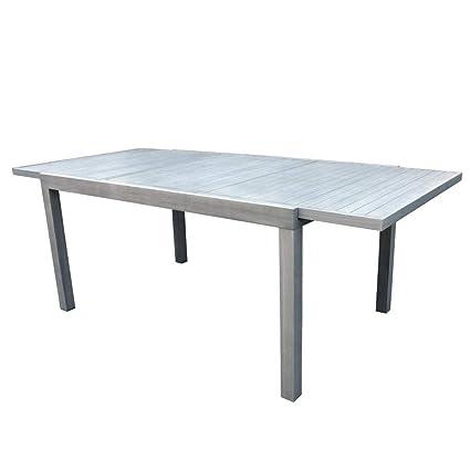 Tavoli Da Giardino In Alluminio Allungabili.Moia S P A Tavolo Da Giardino Allungabile In Alluminio Chiaro