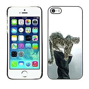 YOYO Slim PC / Aluminium Case Cover Armor Shell Portection //Cool Snow Leopard //Apple Iphone 5 / 5S