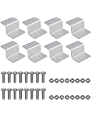 Solar Panel Mounting Z Bracket Mount Supporting for RV, Roof, Boat, Set of 4 Units (2 Sets of Z Brackets)