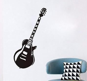 Hanjiming Vintage Guitarra Eléctrica Pegatinas De Pared Para Niños Habitación Boy Name Nursery Instrumento De Música