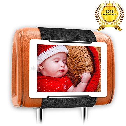 Universal Car Headrest Mount Holder, Car Back Seat Holder for ALL 7 Inch to 11 Inch Tablets - Apple iPad, iPad Mini 2/3/4, iPad Air, iPad Pro 9.7