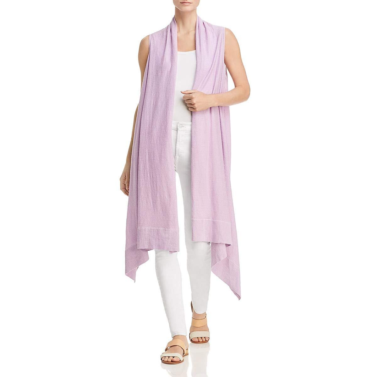 Sea Glass women Karan Womens Linen Sleeveless Cardigan Sweater