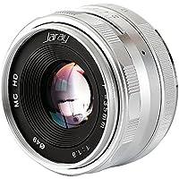 JARAY Fashion Silver 35mm f1.6 Manual Focus Fixed Prime Lens for Fujifilm FX mount X-T10 X-T20 FUJI XF X-E1 X-M1 XT1 XT2