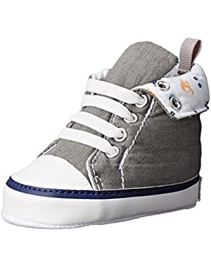 Gray Roll Over Hightop Sneaker (Infant)