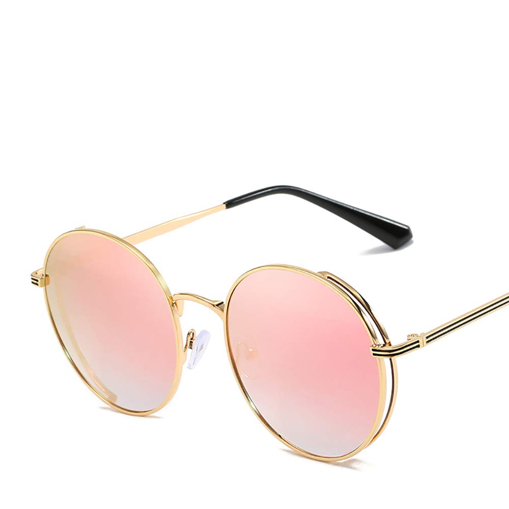 ruhation 2019 New Glasses Frames for Men and Women Sunglasses Fashion Color Film Reflective Retro Round-Frame Sunglasses
