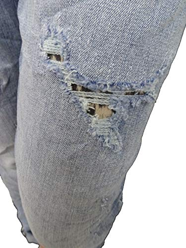 Destroyed By Baggy Denim Leo Con Elasticizzato Boyfriend Karostar Aperto jeans Colori boyfriend 4 Altri Bottoni Lexxury Z6qdwI