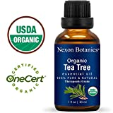 Nexon Botanics Organic Tea Tree Oil 30 ml - Melaleuca Alternifolia Oils - Pure, Natural Undiluted Therapeutic Grade Tea Tree Essential Oil For Hair, Skin, Scalp, Toenail Fungus and Acne