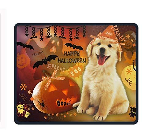 Cute Halloween Puppy Mouse Pad Non-Slip Rubber Base Mousepad Mat for Laptop Desktop -