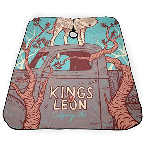 Kings Of Leon Salon Hair Styling Professional Barber Cape With Snap Closure For Hair Cutting Haircut Apron 55 x 66 In