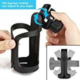 Upgrade Edition Bike Cup Holder, Stroller Drink Holders by Accmor,360 Degrees Universal Rotation Cup Drink Holder for Baby Stroller/Pushchair, Bicycle Strollers, Wheelchair (2 packs)